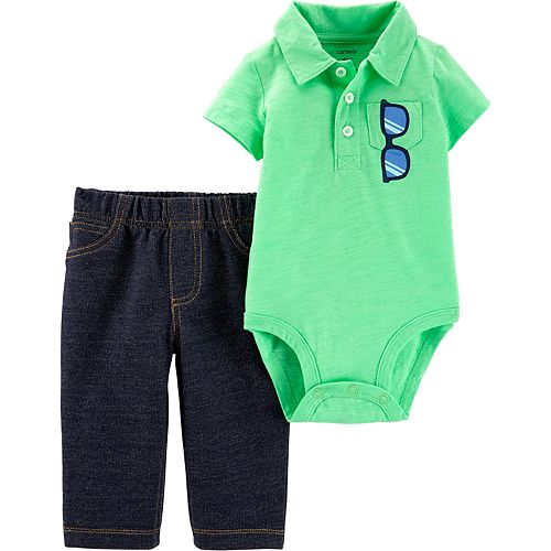 Baby Boy Carter's Sunglasses Polo Bodysuit & Jeggings Set