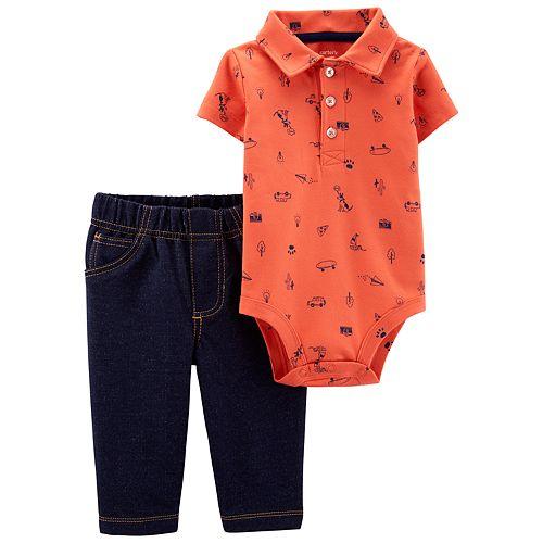 d3a6a38ad Baby Boy Carter's Polo Bodysuit & Jeggings Set