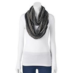 Women's Apt. 9® Party Confetti Railroad Infinity Scarf