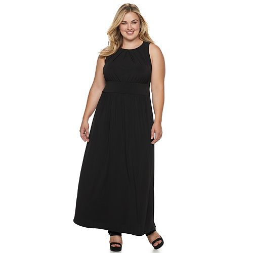 Plus Size Suite 7 Pleated Maxi