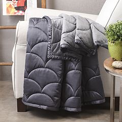 Nikki Chu Charcoal Reversible Throw