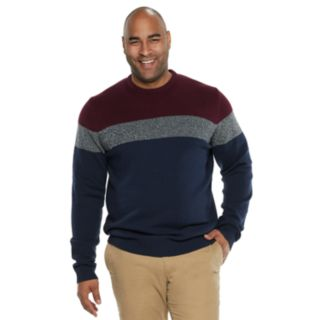 Big & Tall IZOD Colorblock Sweater