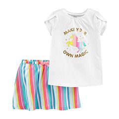 Toddler Girl Carter's 'Make Your Own Magic' Tee & Striped Skort Set