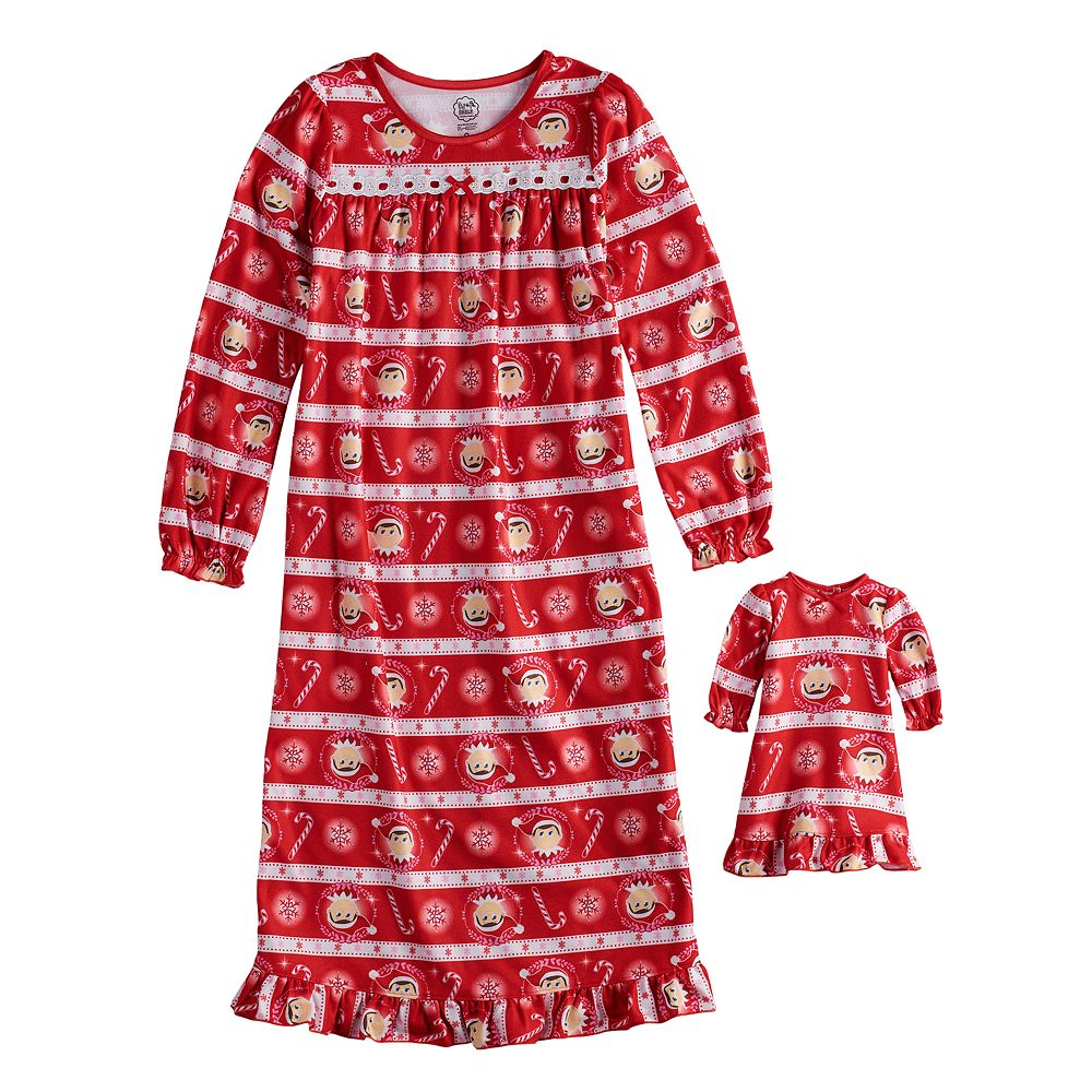 Girls 4-10 The Elf on the Shelf® Scout Elf Nightgown & Doll Gown