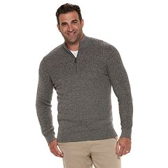 Big & Tall IZOD Newport Classic-Fit Marled Quarter-Zip Pullover Sweater