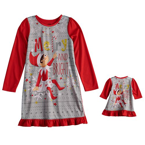 girls 6 12 the elf on the shelf scout elf dorm nightgown doll gown
