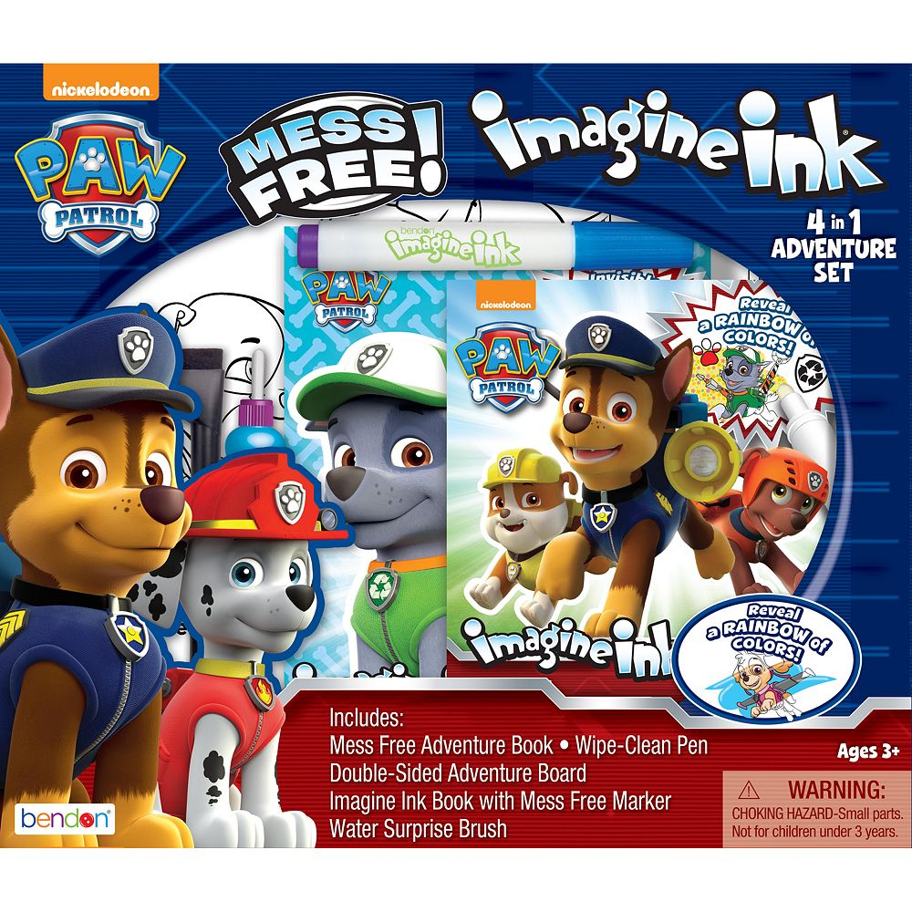 Bendon Paw Patrol Imagine Ink 4-in-1 Mess-Free Activity Set