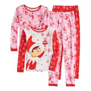 Girls 4-10 The Elf on the Shelf® Scout Elf Top & Bottoms Pajama Set