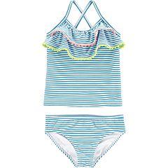 Toddler Girl Carter's Striped Ruffled Tankini & Bikini Bottoms Set