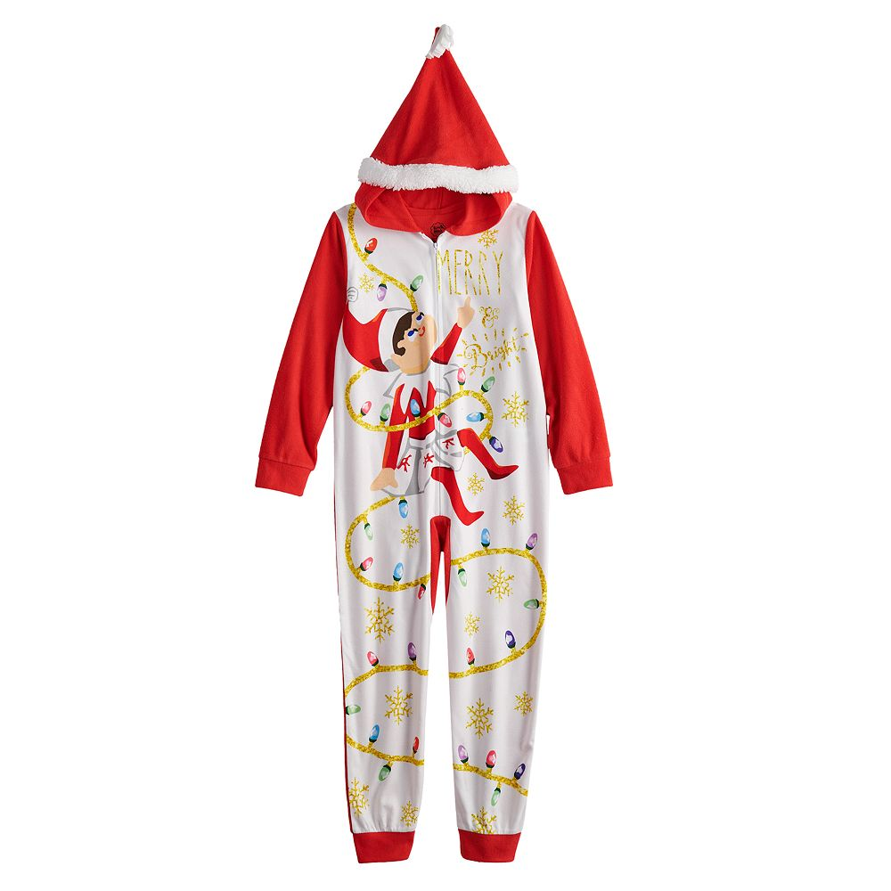 Girls 4-10 The Elf on the Shelf Fleece Footless Pajamas