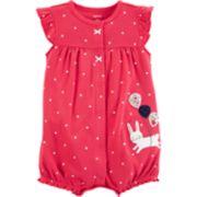 Baby Girl Carter's Polka-Dot Bunny Romper