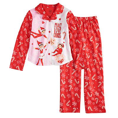 Girls 4-10 The Elf on the Shelf® Top & Bottoms Pajama Set