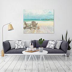 Artissimo Designs Seaside Morning 22' x 28' Canvas Wall Art