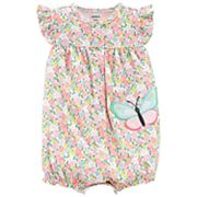 Baby Girl Carter's Floral Butterfly Romper