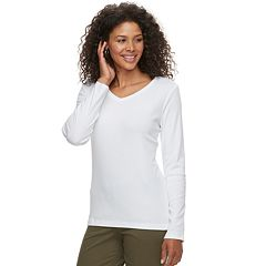 Petite Croft & Barrow® Essential V-Neck Top