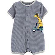 Baby Boy Carter's Striped Giraffe Bodysuit
