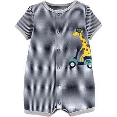 Baby Boy Carter's Striped Giraffe Bodysuit
