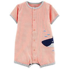 Baby Boy Carter's Striped Shark Romper