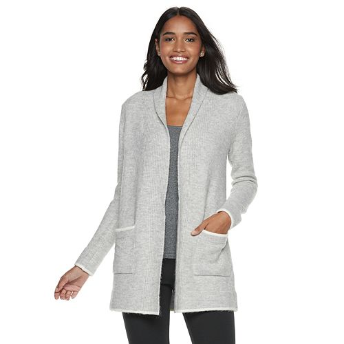 Women's ELLE™ Cozy Shawl Collar Long Cardigan