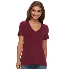 Petite Apt. 9® Essential Short Sleeve V-Neck Tee