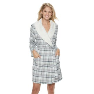Women's SONOMA Goods for Life? Flannel Plush Wrap Robe