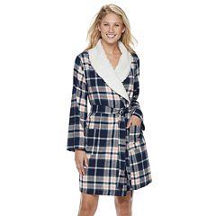 f2e7424e97c Women s SONOMA Goods for Life™ Flannel Plush Wrap Robe