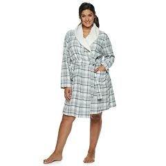 Plus Size SONOMA Goods for Life™ Flannel Plush Wrap Robe