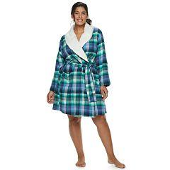 Plus Size SONOMA Goods for Life™ Flannel Plush Wrap Robe