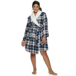 Plus Size SONOMA Goods for Life? Flannel Plush Wrap Robe