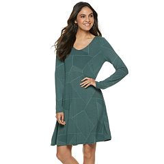 Women's Apt. 9® Scoopneck Fit & Flare Dress