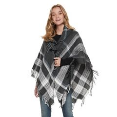 Women's Apt. 9® Shimmer Plaid Ruana