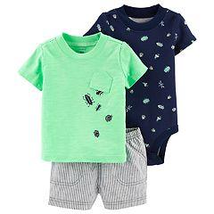 Baby Boy Carter's Bug Top, Bodysuit & Shorts Set