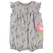 Baby Girl Carter's Flamingo Romper