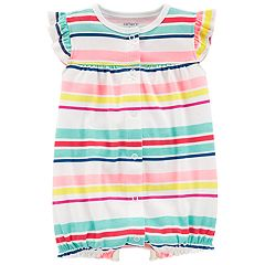Baby Girl Carter's Striped Turn Me Around Heart Romper