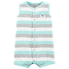 Baby Boy Carter's Whale Striped Romper