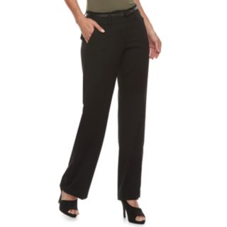 Petite Apt. 9® Belted Mid-Rise Trouser Pants