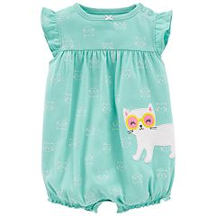 Baby Girl Carter's Cat Romper
