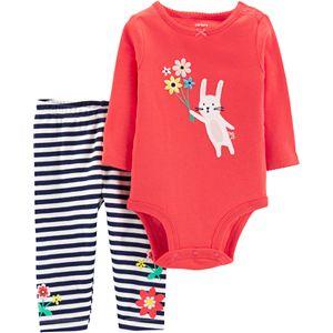 73e162c9f Sale. $11.99. Original. $20.00. Baby Girl Carter's Embroidered Bunny  Bodysuit ...
