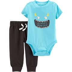 Baby Boy Carter's 'Always Hungry' Monster Bodysuit & Pants Set