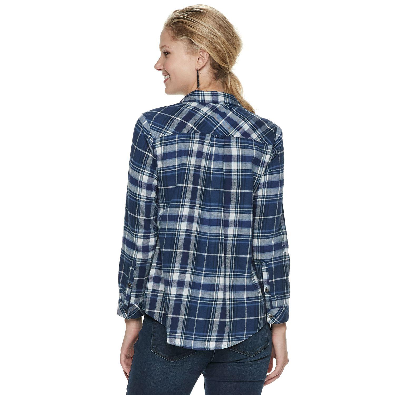 822a79e00c62 Womens Plaid Shirts Kohls