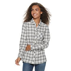 Petite SONOMA Goods for Life™ Essential Supersoft Flannel Shirt