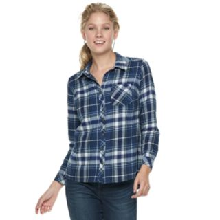 Petite SONOMA Goods for Life? Essential Supersoft Flannel Shirt