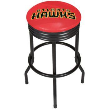 Atlanta Hawks Padded Ribbed Black Bar Stool
