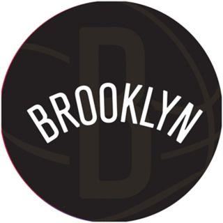 Brooklyn Nets Padded Ribbed Black Bar Stool