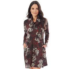 Women's Apt. 9® Cowlneck Swing Dress
