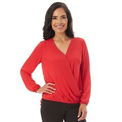 Women's Apt. 9® Crepe Faux-Wrap Top