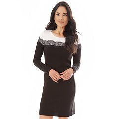 Women's Apt. 9® Lace Accent Sweaterdress