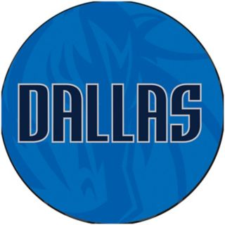 Dallas Mavericks Padded Ribbed Black Bar Stool