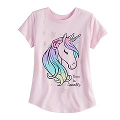 Girls 4-10 Jumping Beans® 'Born To Sparkle' Unicorn Tee