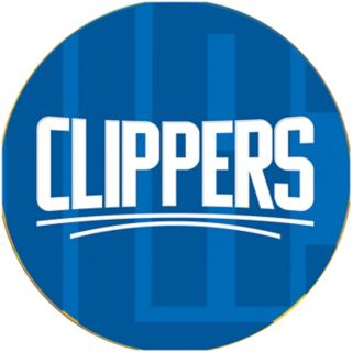 Los Angeles Clippers Padded Ribbed Black Bar Stool